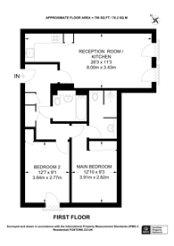 Large floorplan for Twyne House, Aldgate, E1