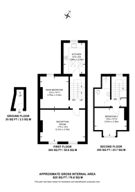 Large floorplan for Shardeloes Road, New Cross, SE14