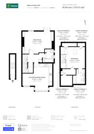 Large floorplan for Aldbourne Road, Shepherd's Bush, W12
