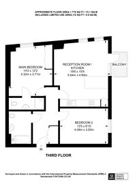 Large floorplan for Bicycle Mews, Clapham, SW4