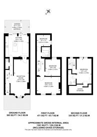 Large floorplan for Sherbrooke Road, Fulham, SW6