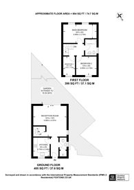 Large floorplan for Oak Tree Gardens, Guildford, GU1