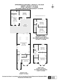 Large floorplan for Cleveland Gardens, Brent Cross, NW2