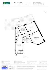 Large floorplan for Park Road, St John's Wood, NW8