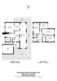 Large floorplan for Ross Way, Northwood, HA6