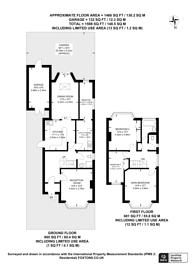 Large floorplan for Waddington Way, Upper Norwood, SE19