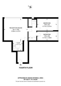 Large floorplan for CLARE COURT,, Bloomsbury, WC1H