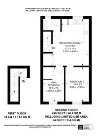 Large floorplan for North End Road, Fulham Broadway, SW6