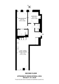 Large floorplan for Barts Square, EC1A, Farringdon, EC1A