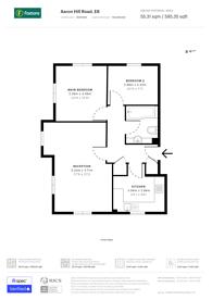 Large floorplan for Aaron Hill Road, Beckton, E6