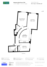 Large floorplan for Wapping High Street, Wapping, E1W