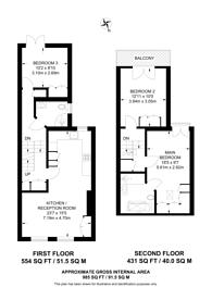 Large floorplan for Hamble Street, Sands End, SW6
