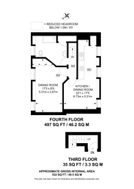 Large floorplan for Hanover place, Covent Garden, WC2E