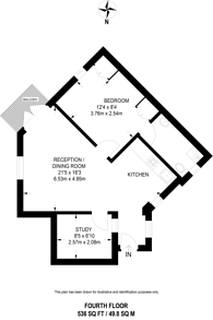 Large floorplan for Regency Place, Westminster, SW1P