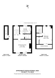 Large floorplan for Crayford Road, Tufnell Park, N7