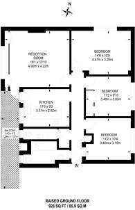 Large floorplan for Gilray House, Lancaster Gate, W2