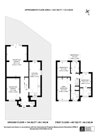 Large floorplan for Sellwood Drive, Chipping Barnet, EN5