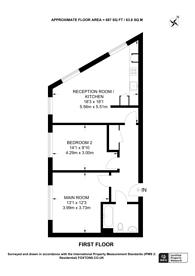 Large floorplan for Cottage Road, Islington, N7