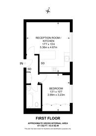 Large floorplan for Kendal Street, Hyde Park Estate, W2