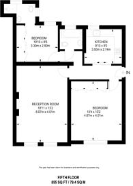 Large floorplan for Ridgmount Gardens, Bloomsbury, WC1E