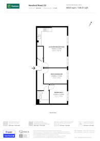 Large floorplan for Hereford Road, Bow, E3