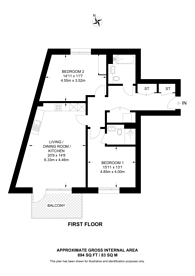 Large floorplan for Millbrook Park, Mill Hill, NW7