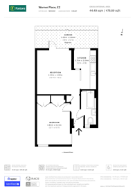 Large floorplan for Mary James House, Warner Place, Bethnal Green, E2