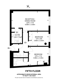 Large floorplan for New Compton street, West End, WC2H