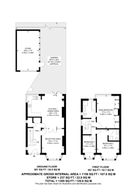 Large floorplan for West Towers, Pinner, HA5