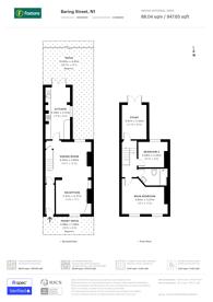 Large floorplan for Baring Street, Islington, N1