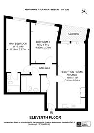 Large floorplan for Newgate Tower, Croydon, CR0