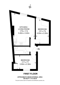 Large floorplan for Lillie Road, Fulham, SW6