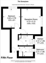 Large floorplan for Shepherds Bush Road, Shepherd's Bush, W6