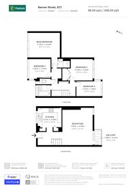 Large floorplan for Banner Street, Clerkenwell, EC1Y