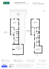 Large floorplan for Lancaster Gardens, Bromley, BR1
