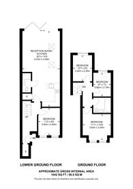 Large floorplan for Turneville Road, Fulham Broadway, W14