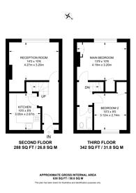 Large floorplan for Pitfield Street, Hoxton, N1