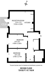 Large floorplan for Adenmore Road, Catford, SE6