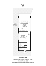 Large floorplan for Gloucester Place, Baker Street, NW1