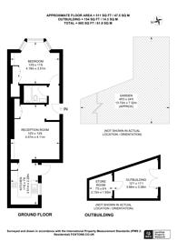 Large floorplan for Cavendish Road, Kilburn, NW6