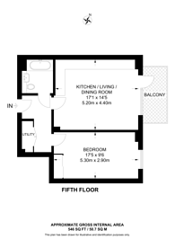 Large floorplan for The Assembly, Hounslow, TW3