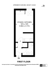 Large floorplan for Riverside Apartments, Russell Road, N13, Bowes Park, N13