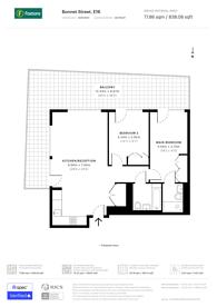 Large floorplan for Bonnet Street, Canning Town, E16