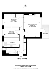Large floorplan for Pond Place, Chelsea, SW3