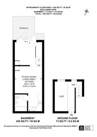 Large floorplan for Fordham Street, Aldgate, E1