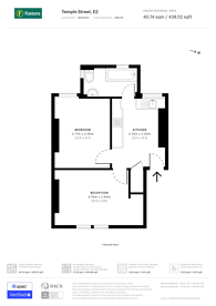 Large floorplan for Temple Dwellings, Hackney, E2