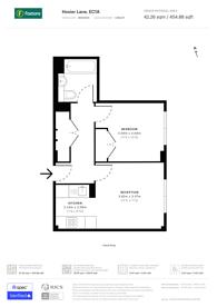 Large floorplan for Hosier Lane, Islington, EC1A