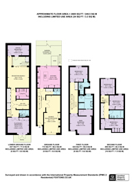 Large floorplan for Perrymead Street,, Peterborough Estate, SW6