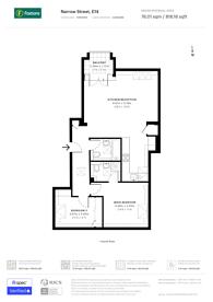 Large floorplan for Narrow Street, Limehouse, E14