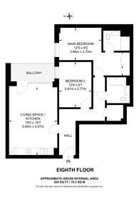 Large floorplan for Beaufort Park, Colindale, NW9